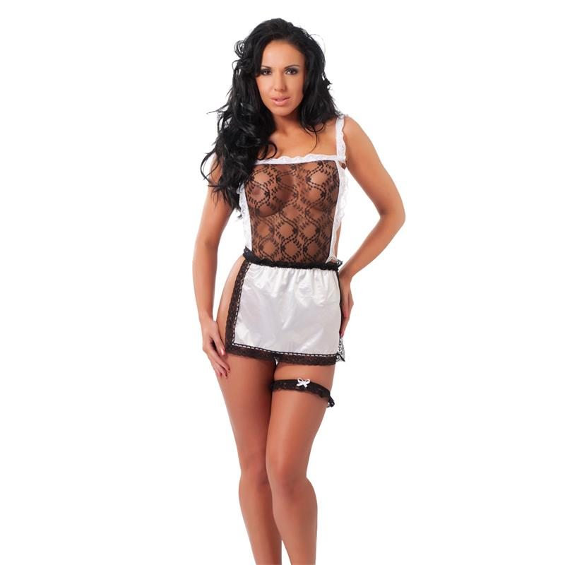 Rimba Amorable Maid Costume Black and White One Size