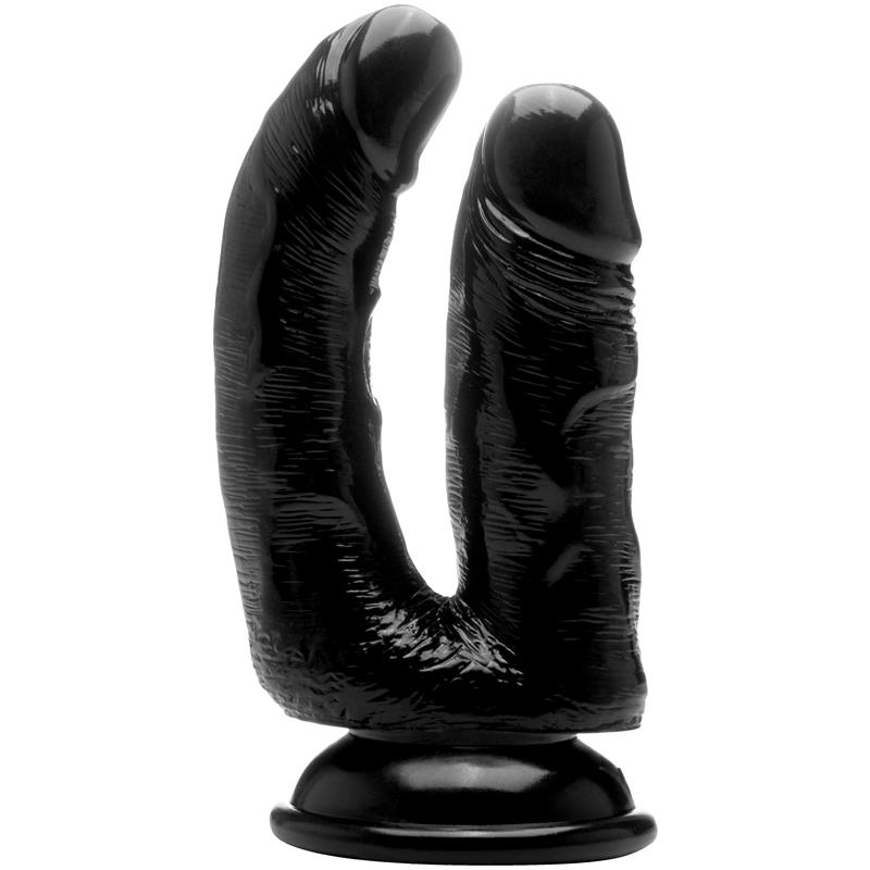Realistic Double Cock - 6,5 Inch - Black