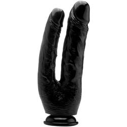 Realistic Double Cock - 10 Inch - Black