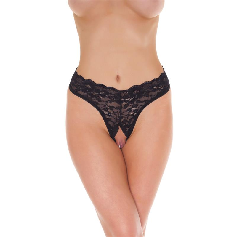 Rimba Amorable Open G-String Black One Size