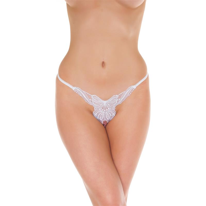 Rimba Amorable Open G-String White One Size