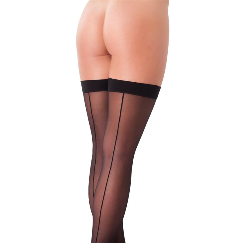 Rimba Amorable Stockings with Seem Black One Size