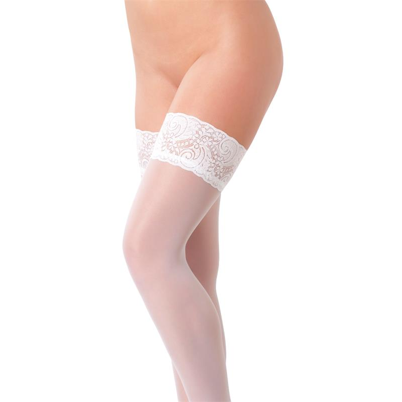 Rimba Amorable Hold-up Stockings White One Size