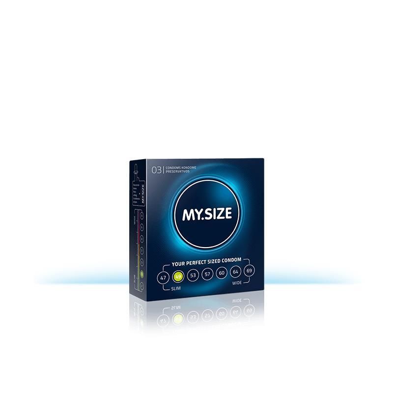 My Size přírodní latex kondomy velikosti 49 boxy 3 jednotek