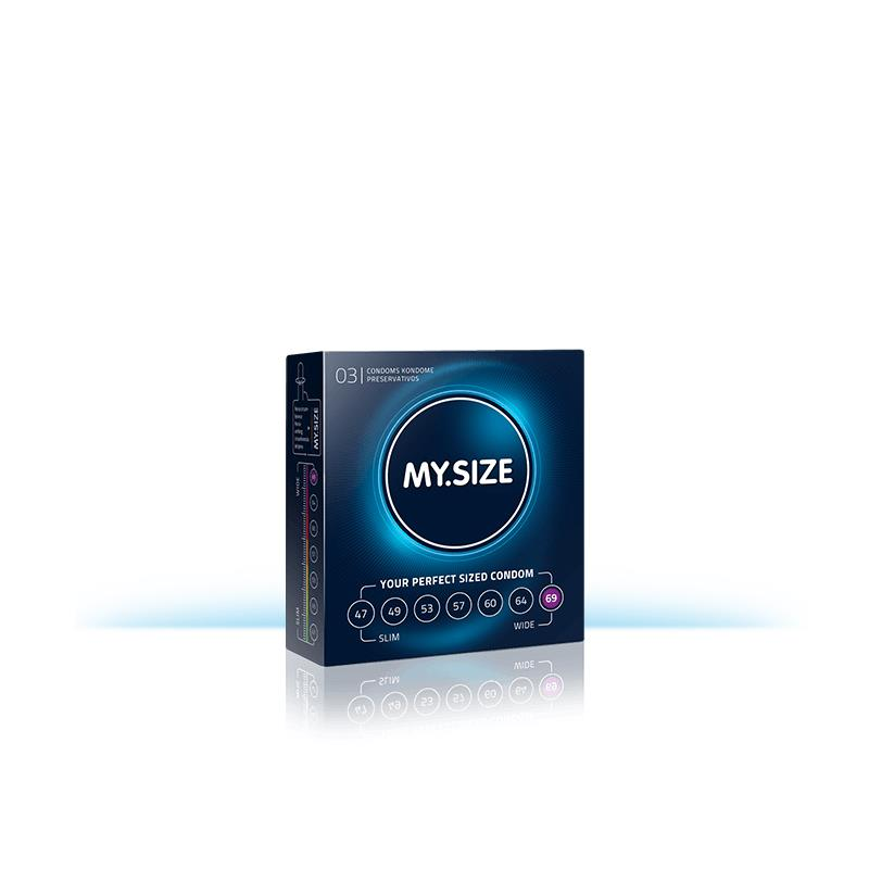 My Size přírodní latex kondomy velikosti 69 Box 3 jednotek