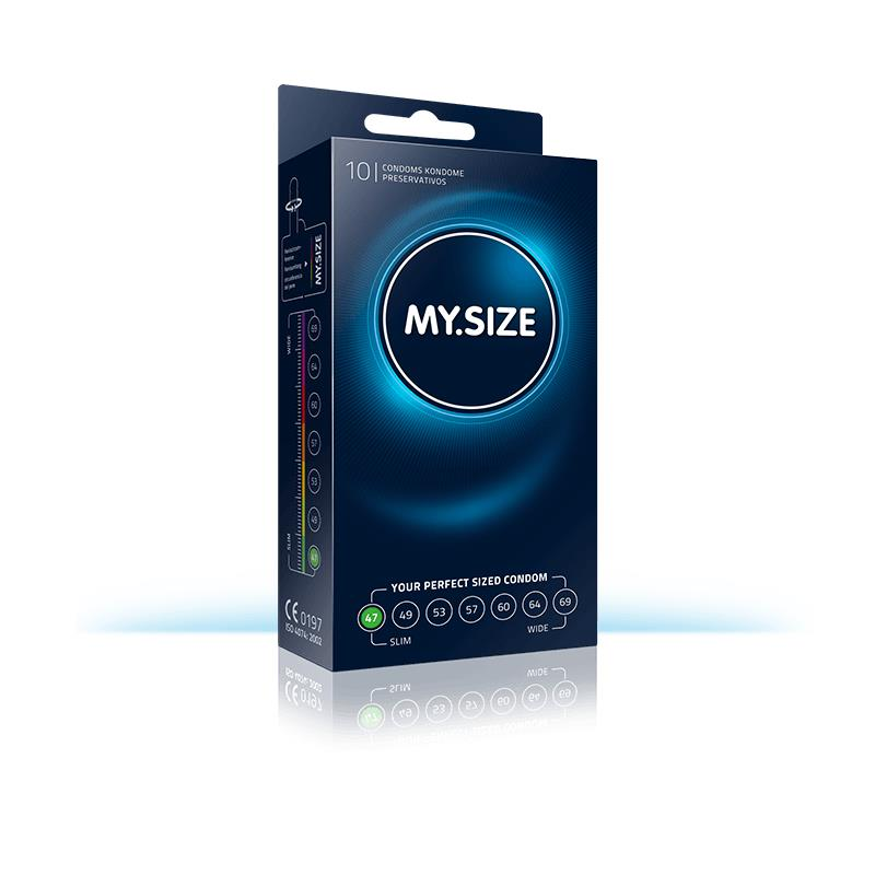 My Size přírodní latex kondomy velikosti 47 Box 10 jednotek