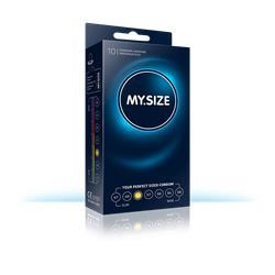MY SIZE 53 - Natural latex condom, transparent, lu
