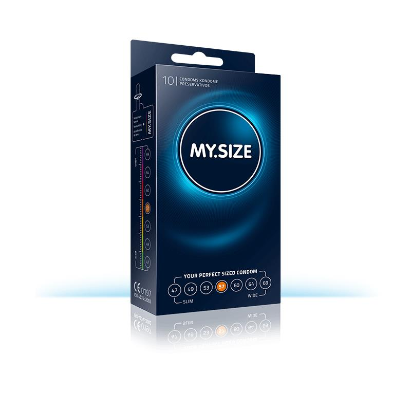 My Size přírodní latex kondomy velikosti 57 Box 10 jednotek