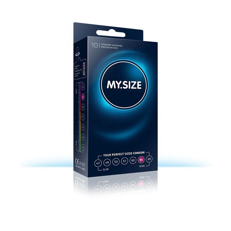 My Size přírodní latex kondomy Velikost 64 Box 10 jednotek