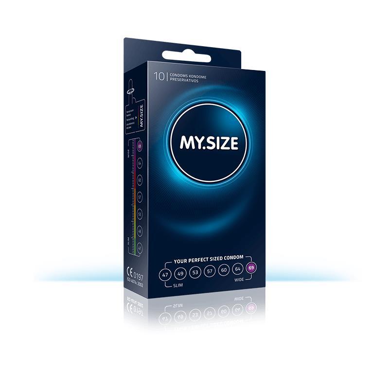 My Size přírodní latex kondomy velikosti 69 Box 10 jednotek