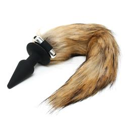 butt plug with fox tail