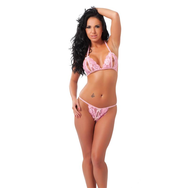 Rimba Amorable Bikini Abierto Color Rosa Talla Única de AMORABLE #satisfactoys