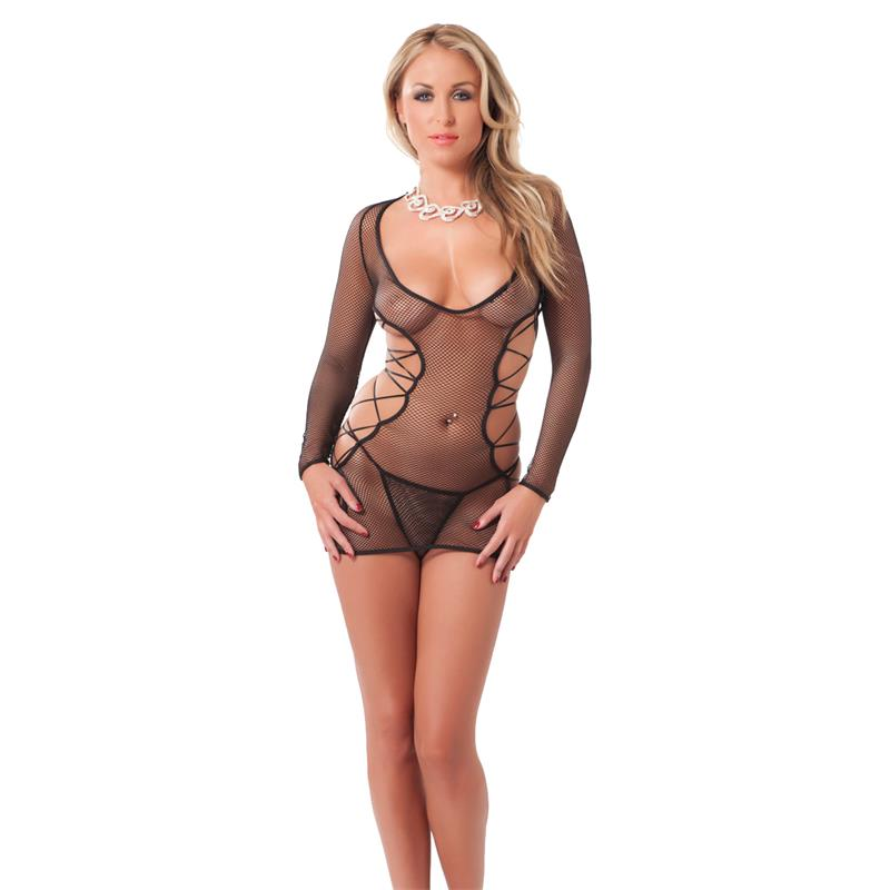 Rimba Amorable Vestido más Tanga Color Negro Talla Única de AMORABLE #satisfactoys