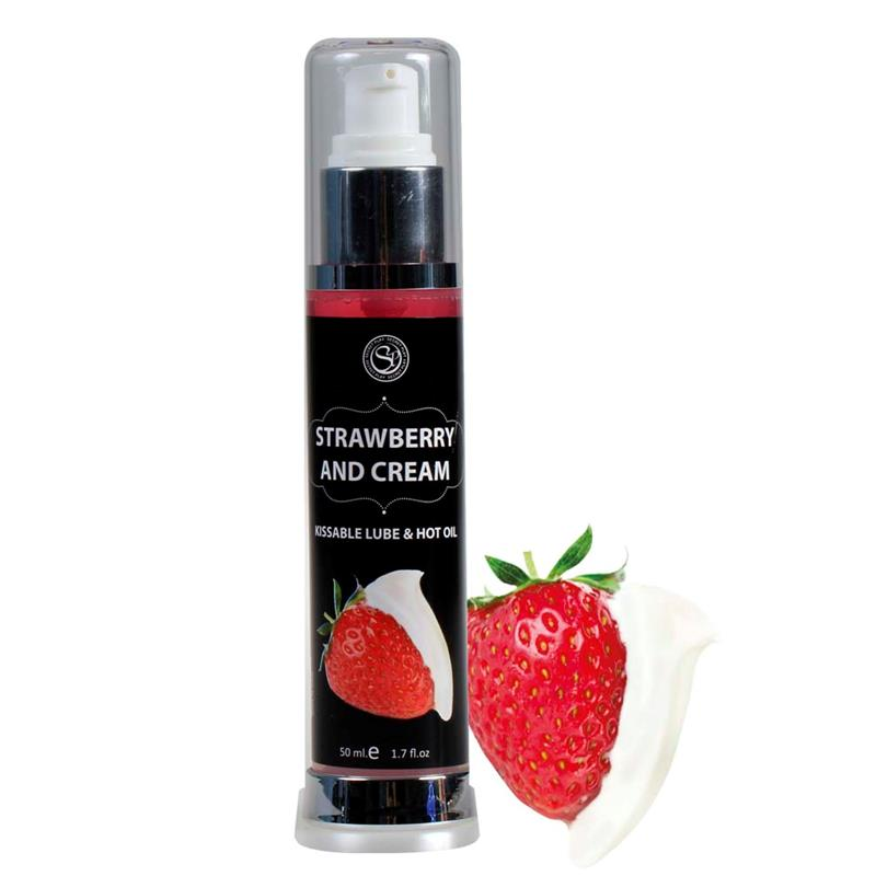 Secret Play Lubricante Efecto Calor Fresas con Nata 50 ml de SECRET PLAY #satisfactoys