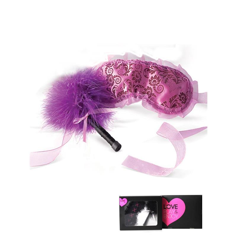 Secret Play Purple Blindfold and Duster