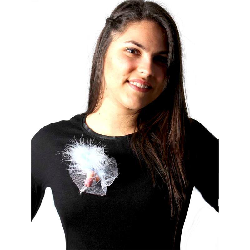 Femarvi Broche de Tul Blanco con Pene Pack de 50 de FEMARVI #satisfactoys
