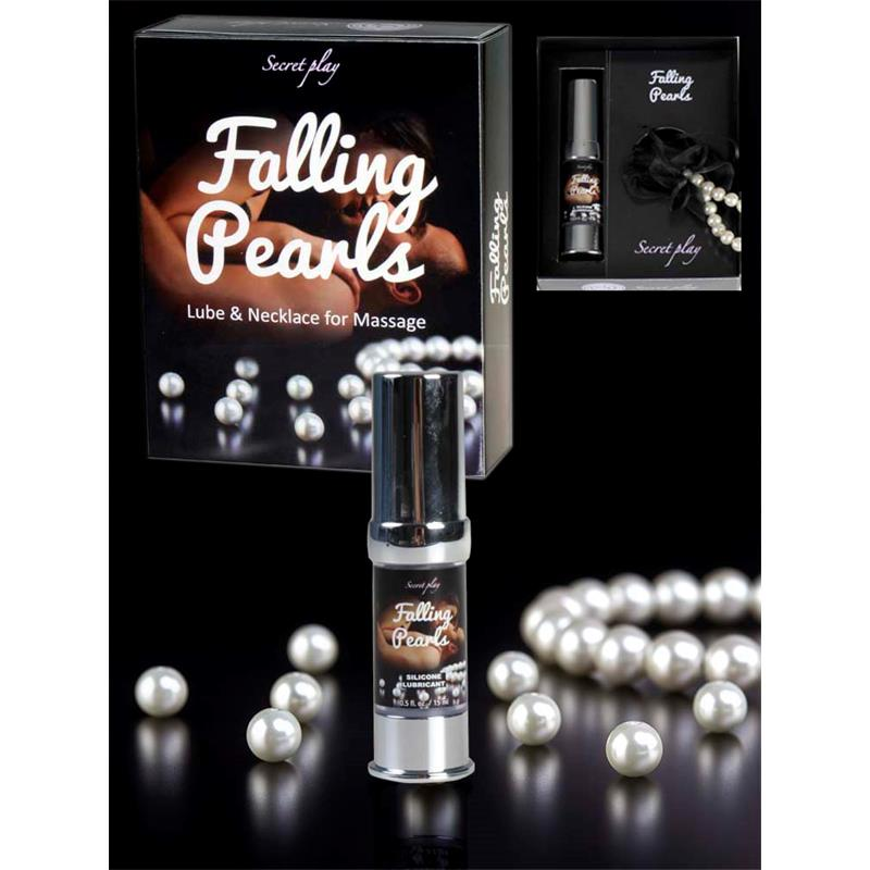 Secret Play Falling Pearls - Silicone Lube and Pearls Necklace