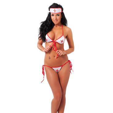 Nurse Bikini Set, 3 pcs.-OS
