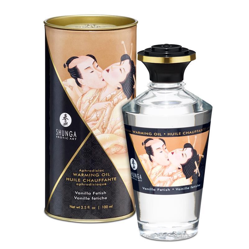Shunga Warming Massage Oil Vanilla Aroma