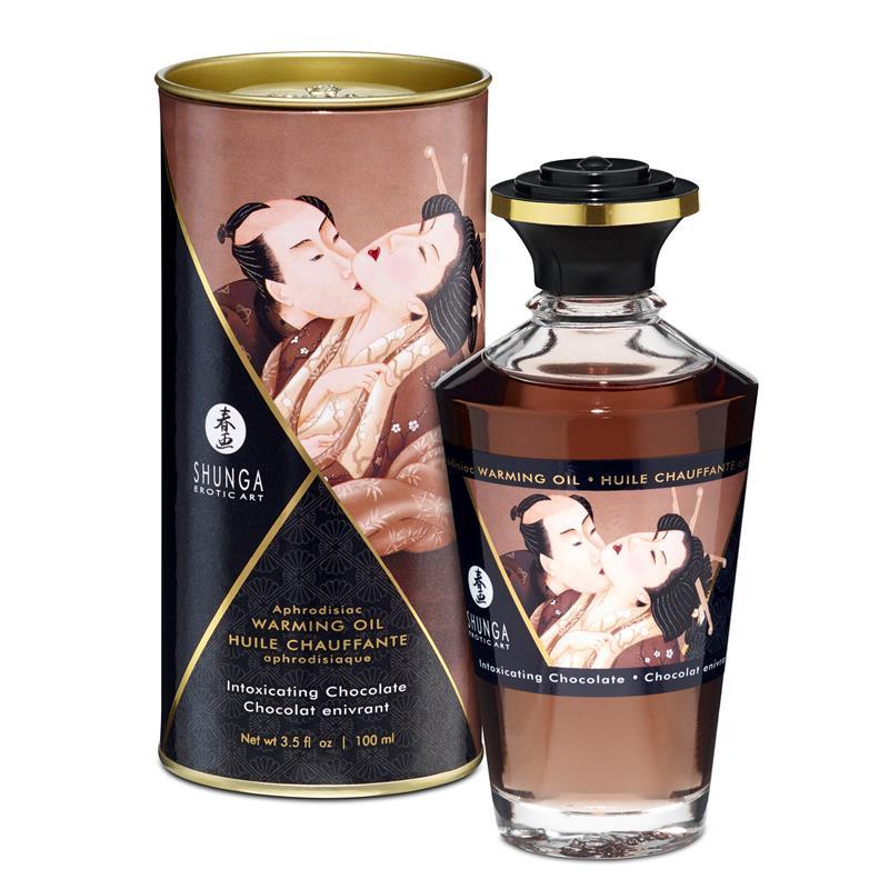 Shunga Warming Massage Oil Chocolate Aroma