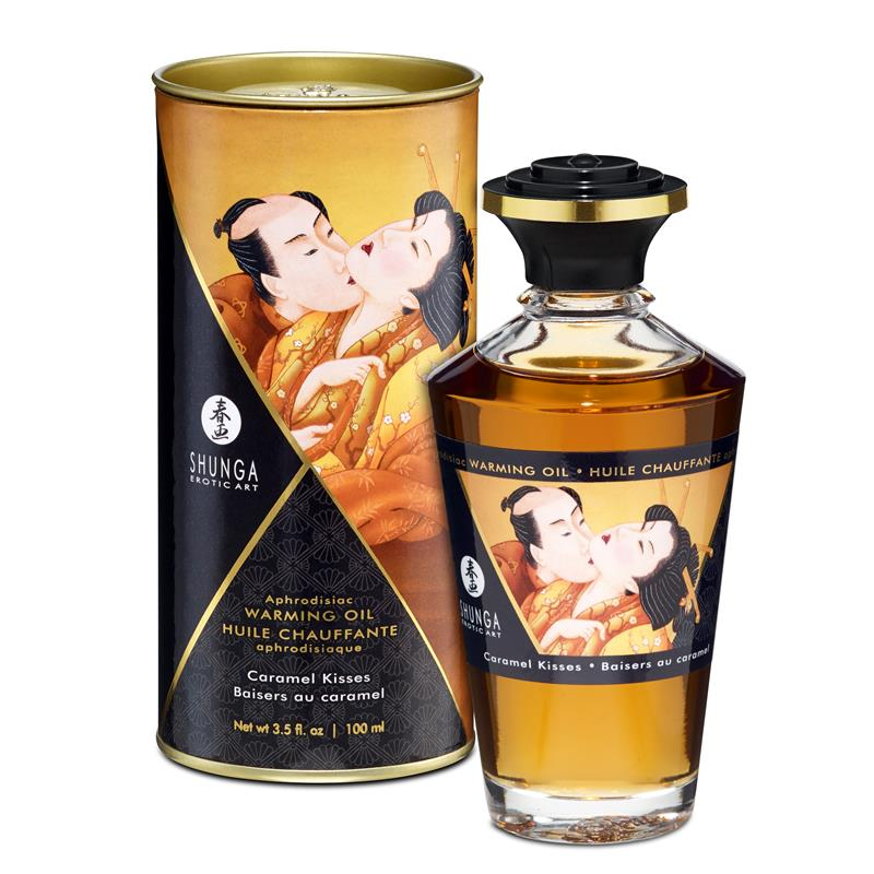 Shunga Warming Massage Oil Caramel Aroma