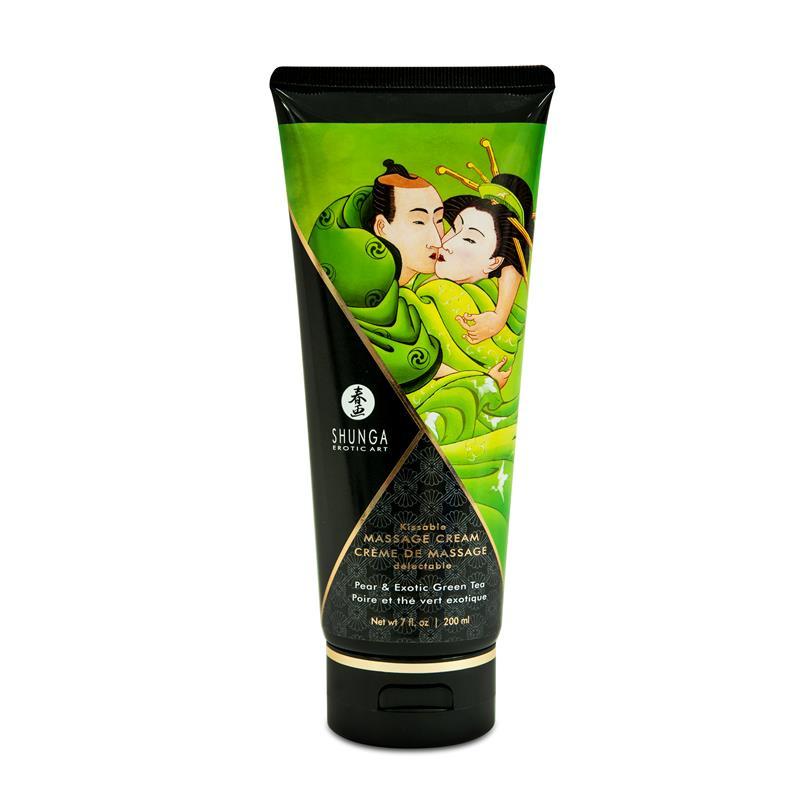 Shunga Massage Creme Green Tea