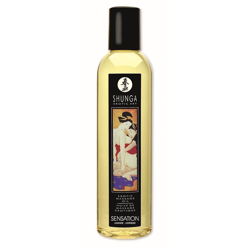 Shunga Erotic Massage Oil Lavande