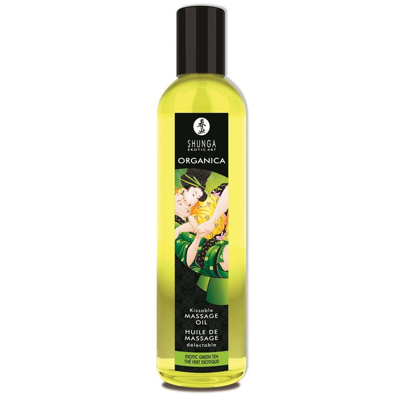 Shunga Organic Massage Oil Green Tea