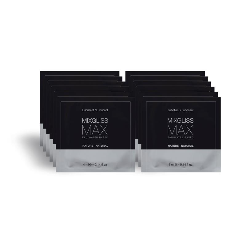 Mixgliss Pack de 12 Monodosis Lubricante Anal MAX 4 ml de MIXGLISS #satisfactoys