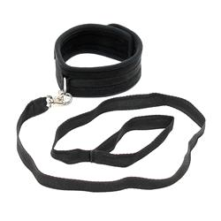Soft collar with leash-Adjustable