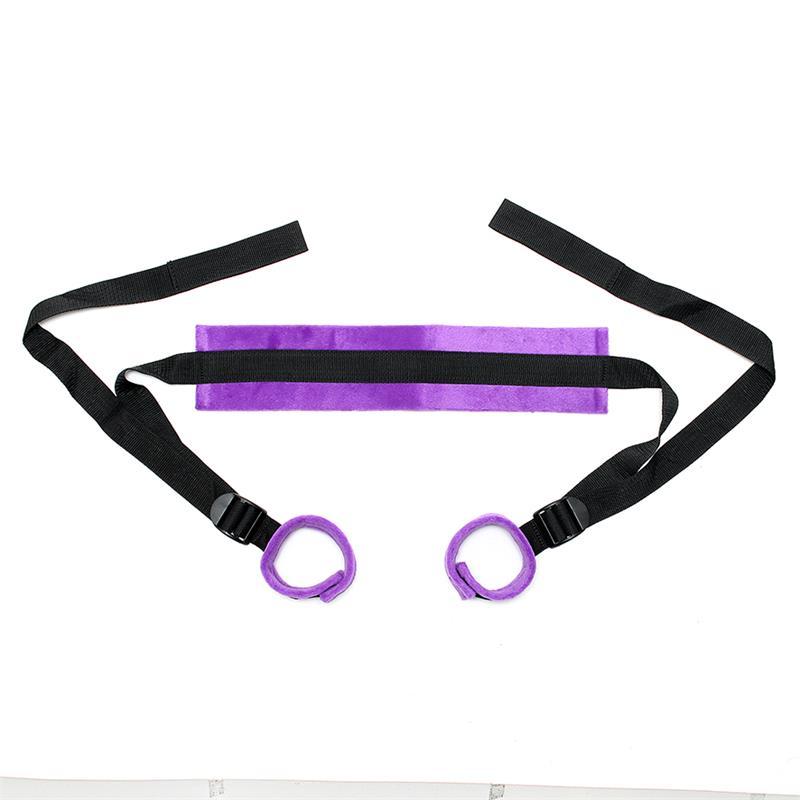 Popruhy k roztáhnutí a zvednutí nohou Rimba Bondage Play Enhancer Set Adjustable Purple