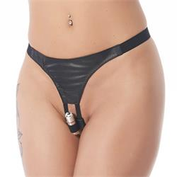 G-string with vibrator-One size