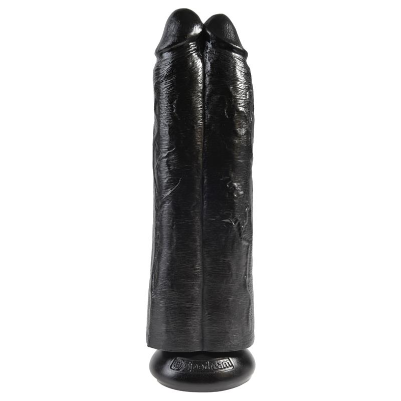 Double Dildo Two Cocks One Hole Black 11