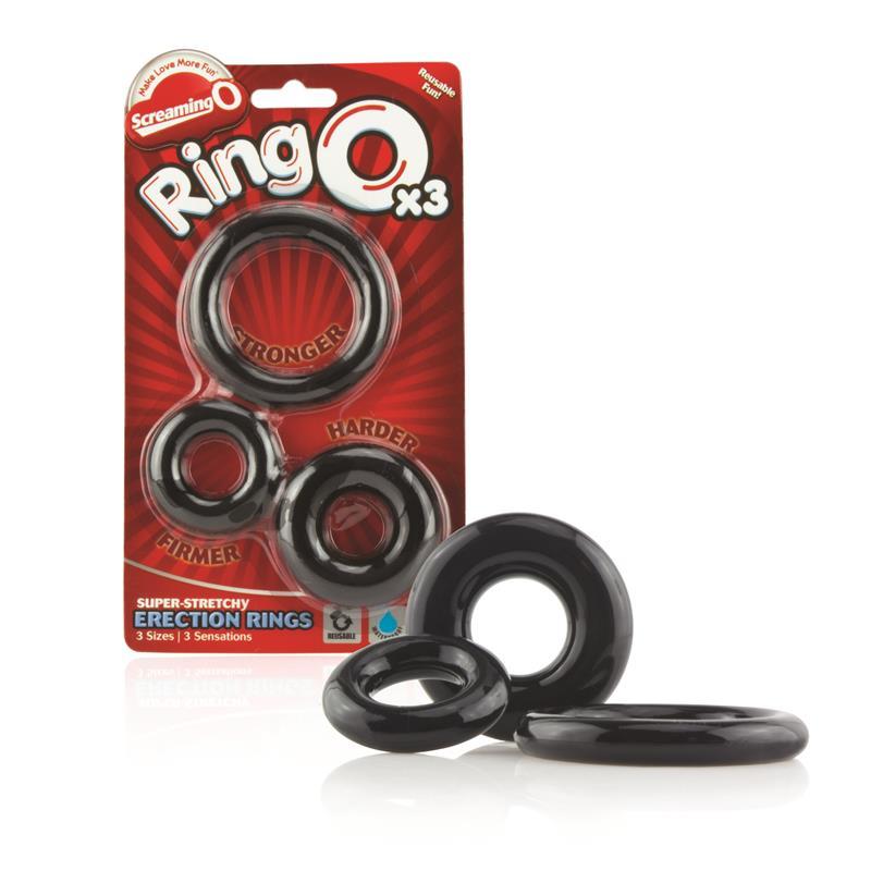Ringo x3  - Color Negro de SCREAMINGO #satisfactoys