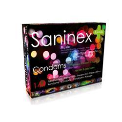 Saninex condoms 144 uds. music - punteado - dotted