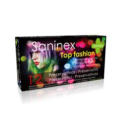 Saninex condoms 12 uds. top fashion - punteado - d