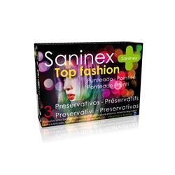 Saninex condoms 3 uds. top fashion - punteado - do