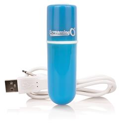 Charged vooom rechargeable bullet vibe - blue