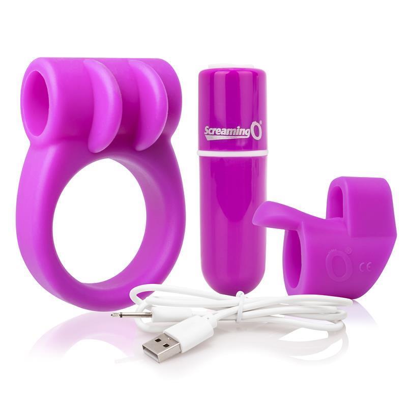 Vibrační Bullet Kit Nabité Purple