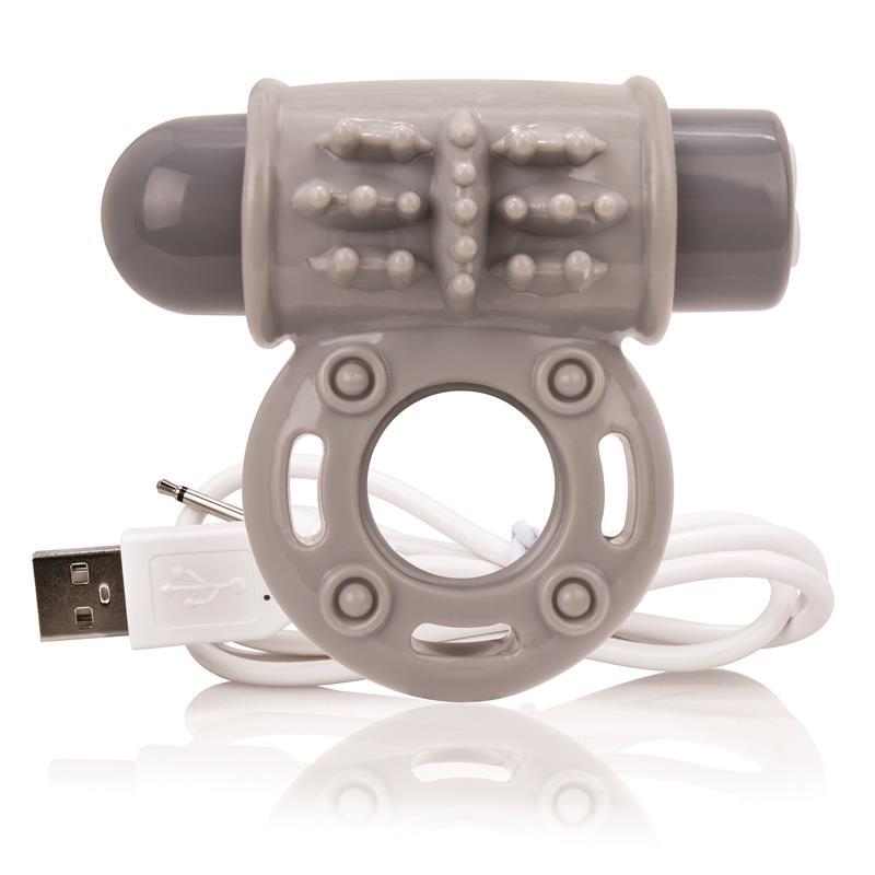 Charged Anillo Vibrador Owow - Gris de SCREAMINGO #satisfactoys