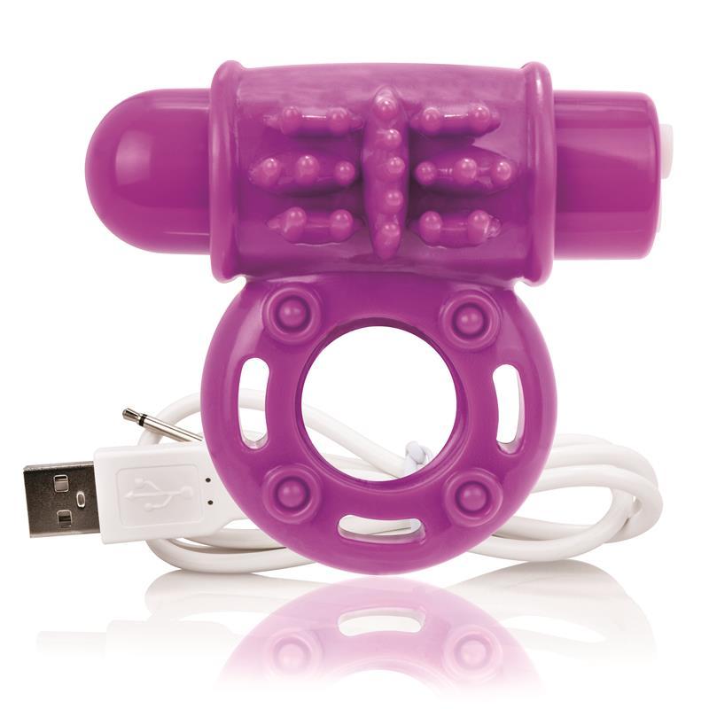 Charged Anillo Vibrador Owow - Púrpura de SCREAMINGO #satisfactoys