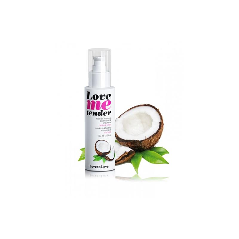 Aceite de Masage Efecto Calor Love Me Tender Aroma a Coco de LOVE TO LOVE #satisfactoys