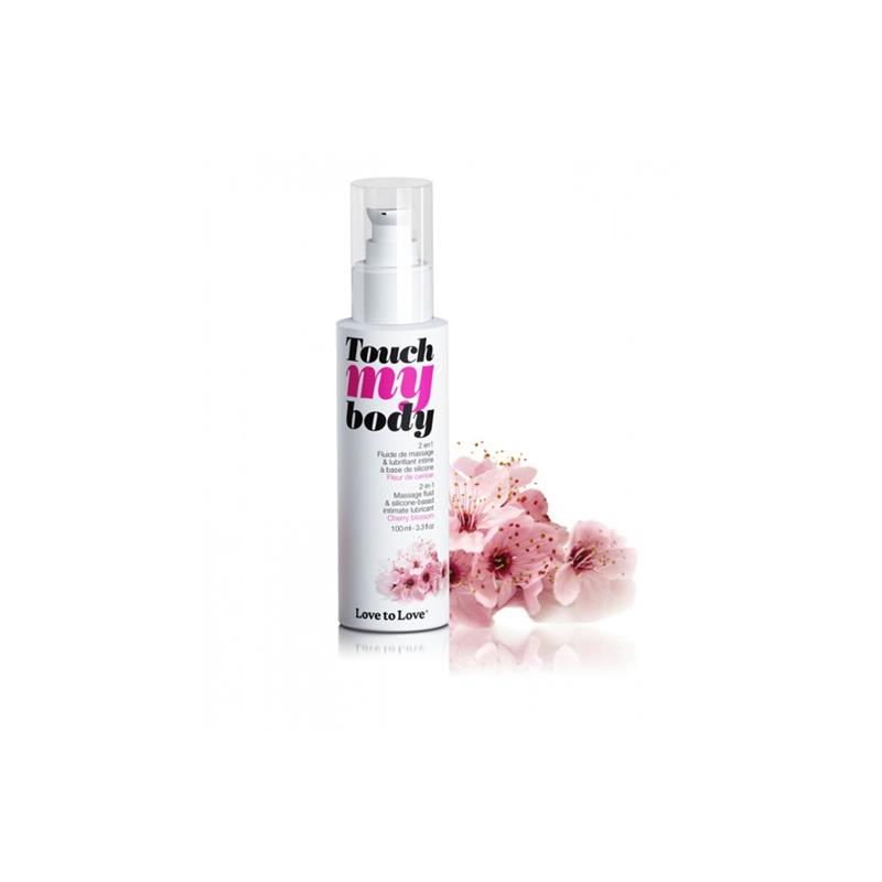 Lubricant and Massaje Oil Touch my Body Cherry Blossom Aroma