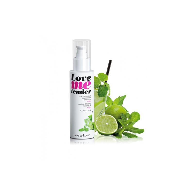 Aceite de Masaje Efecto Calor Love Me Tender Aroma a Mojito de LOVE TO LOVE #satisfactoys