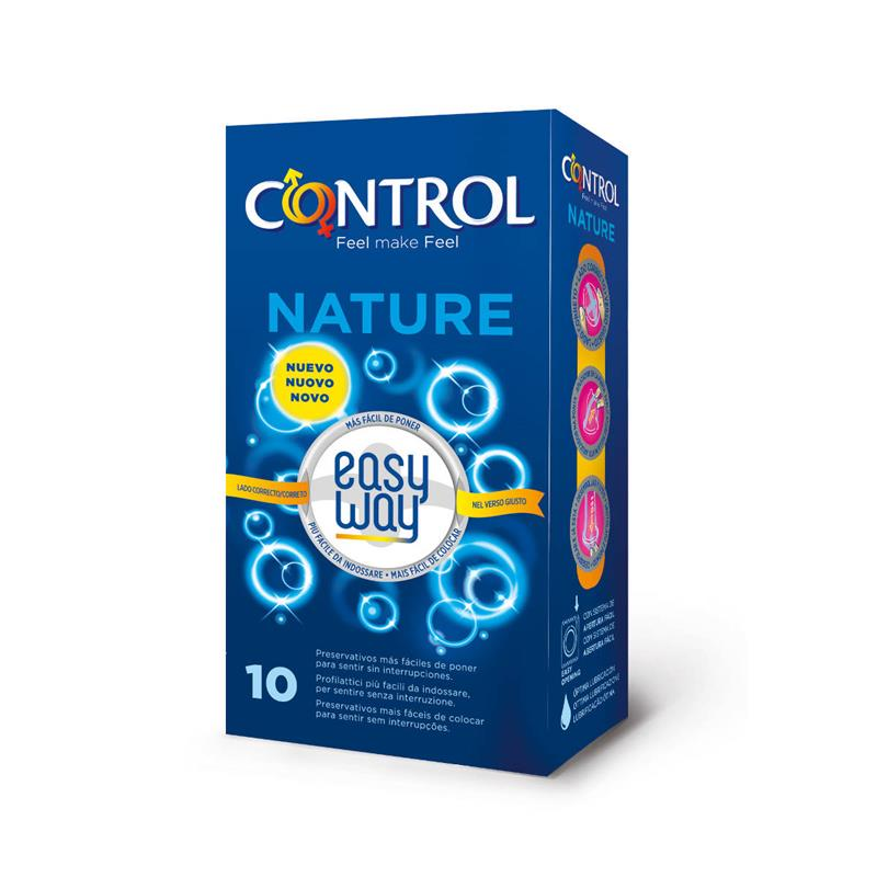 Preservativos Nature Easy Way 10 unidades de CONTROL #satisfactoys