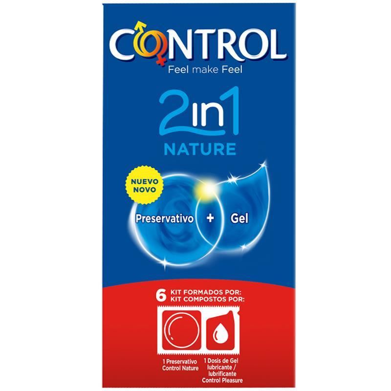 Kondomy Nature 2 v 1 - 6 ks