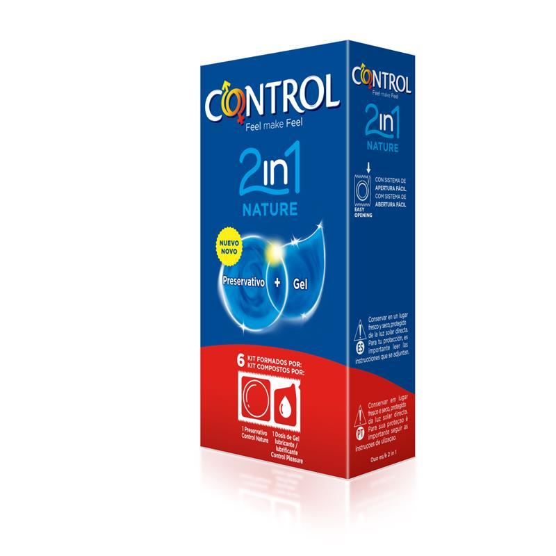 Preservativos Nature 2 en 1 - 6 unidades de CONTROL #satisfactoys