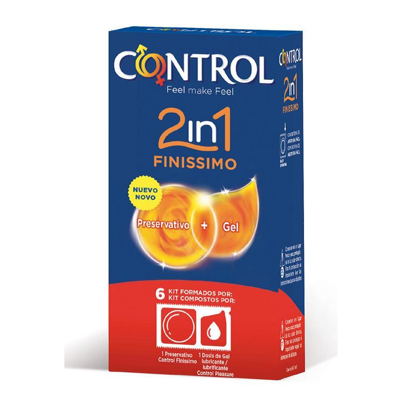 Preservativos Finissimo 2 en 1 - 6 unidades de CONTROL #satisfactoys