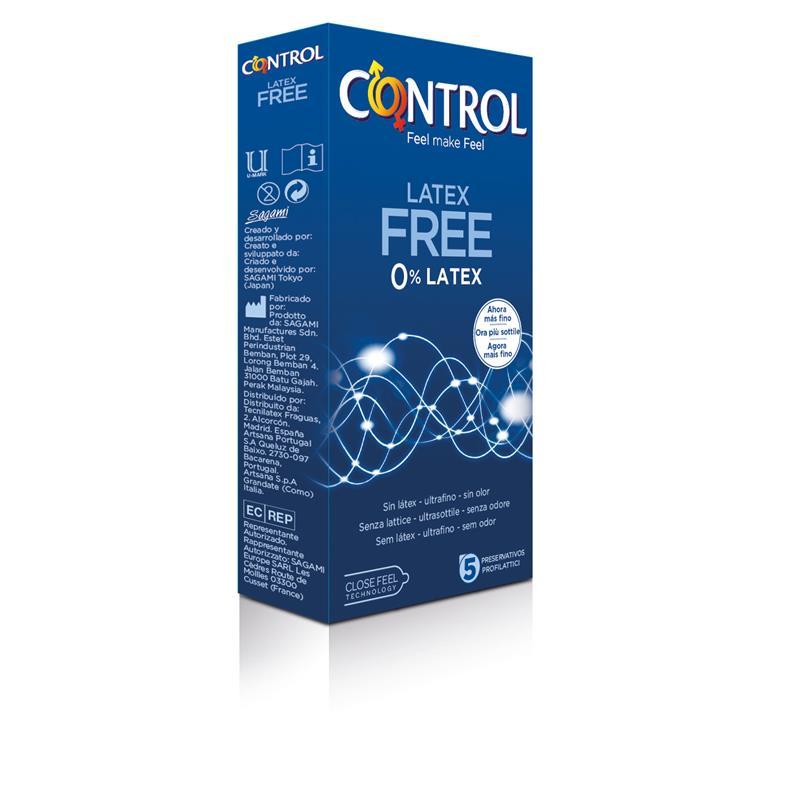 Preservativos Sin Látex 5 unidades de CONTROL #satisfactoys