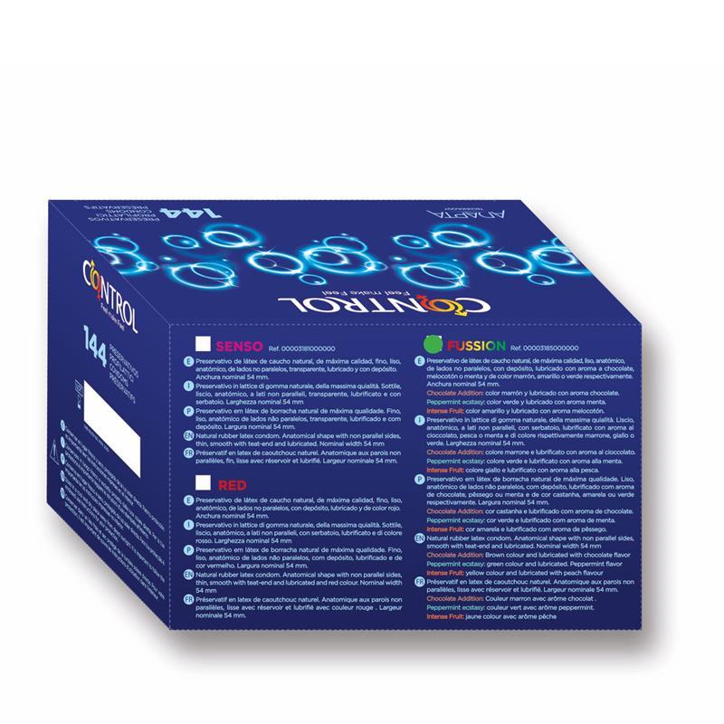 Kondomy Caja Profesionální Fussion 144 jednotek